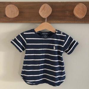 Ralph Lauren cotton striped tee, 9 months